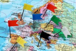 Vlaggen in europa